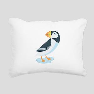 Puffin Rectangular Canvas Pillow