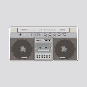 Boombox Radio Aluminum License Plate