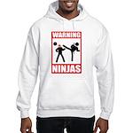 Warning: Ninjas Hooded Sweatshirt