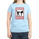 Warning: Ninjas Women's Light T-Shirt