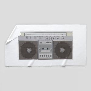 Boombox Radio Beach Towel