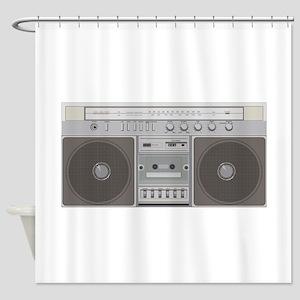 Boombox Radio Shower Curtain