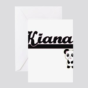 Kiana Classic Retro Name Design wit Greeting Cards