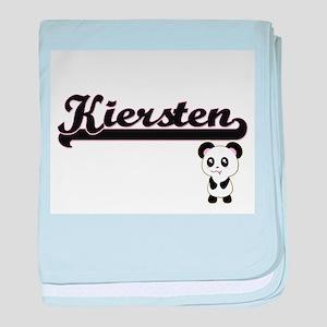 Kiersten Classic Retro Name Design wi baby blanket