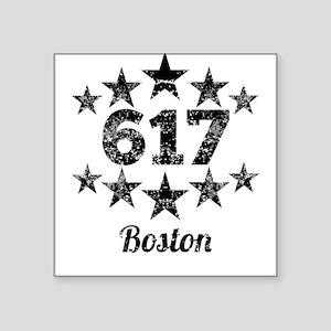 Vintage 617 Boston Sticker