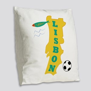 Lisbon Burlap Throw Pillow