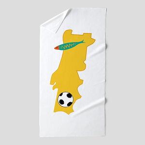 Portugal Map Beach Towel