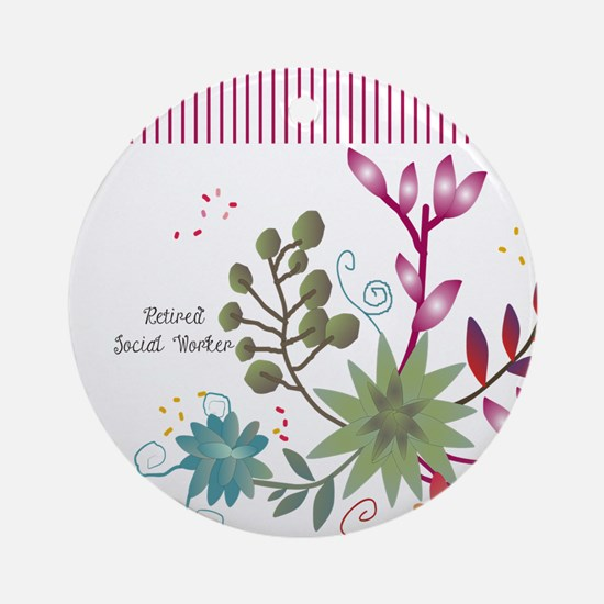Retired Social Worker Ornament (Round)