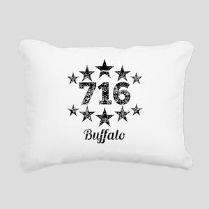 Vintage 716 Buffalo Rectangular Canvas Pillow
