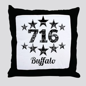 Vintage 716 Buffalo Throw Pillow