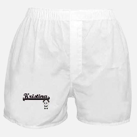 Kristina Classic Retro Name Design wi Boxer Shorts