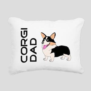 Corgi Dad Rectangular Canvas Pillow