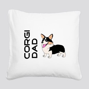 Corgi Dad Square Canvas Pillow