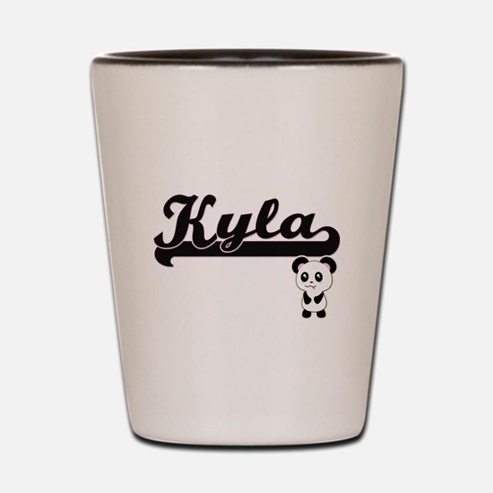 Kyla Classic Retro Name Design with Pan Shot Glass