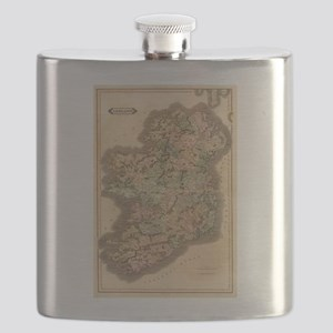 Vintage Map of Ireland (1831) Flask