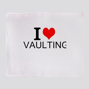 I Love Vaulting Throw Blanket