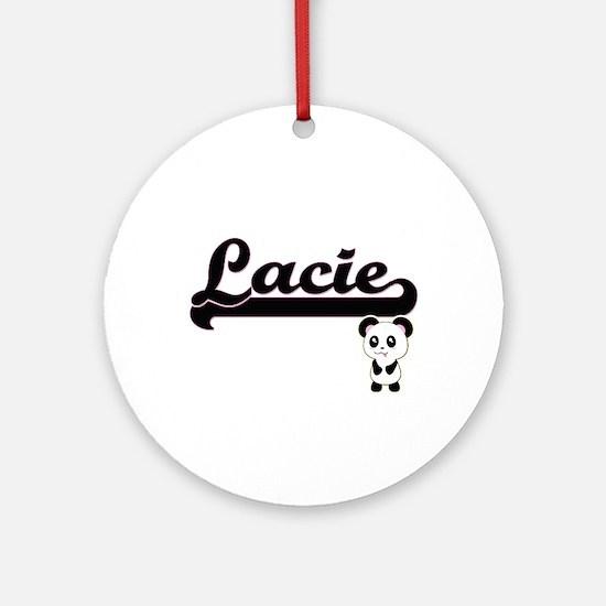 Lacie Classic Retro Name Design w Ornament (Round)