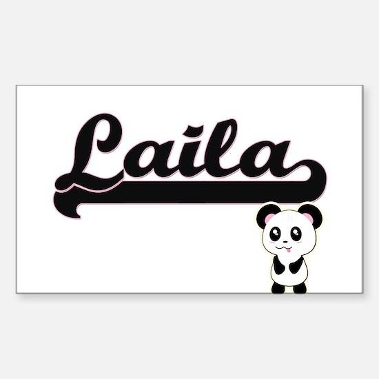 Laila Classic Retro Name Design with Panda Decal