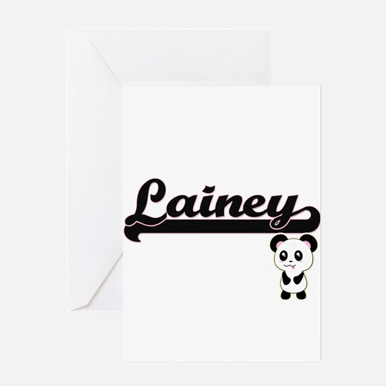 Lainey Classic Retro Name Design wi Greeting Cards