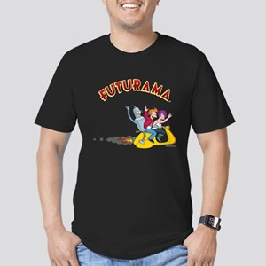 Futurama Hover Scooter Men's Fitted T-Shirt (dark)