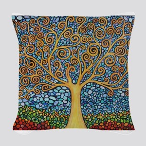 My Tree of Life Woven Throw Pillow