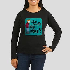 Fry Blue Women's Long Sleeve Dark T-Shirt