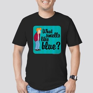 Fry Blue Men's Fitted T-Shirt (dark)