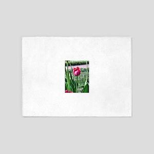 very pink tulip 5'x7'Area Rug