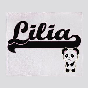 Lilia Classic Retro Name Design with Throw Blanket
