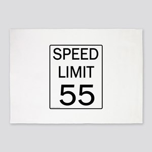 Speed Limit-55JPG 5'x7'Area Rug