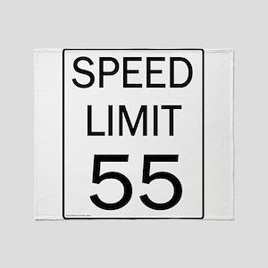Speed Limit-55JPG Throw Blanket