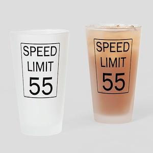Speed Limit-55JPG Drinking Glass