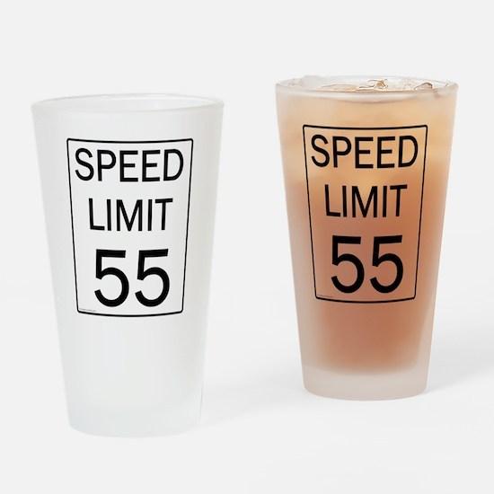Speed Limit-55JPG.jpg Drinking Glass