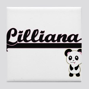 Lilliana Classic Retro Name Design wi Tile Coaster