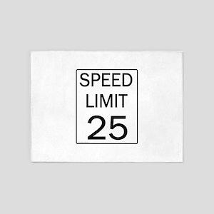 Speed Limit-25JPG 5'x7'Area Rug