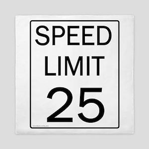 Speed Limit-25JPG Queen Duvet