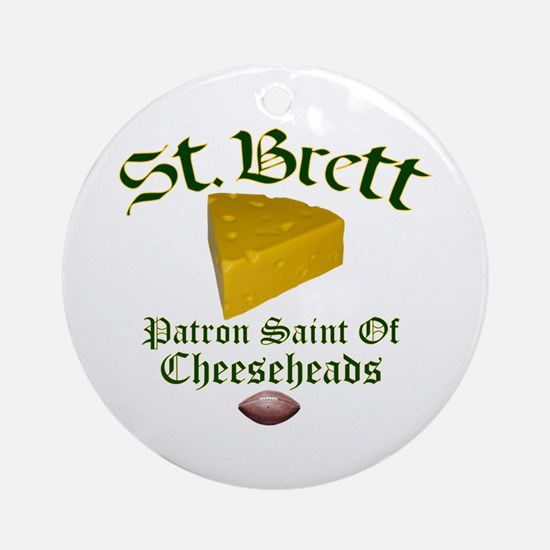 St. Brett Ornament (Round)