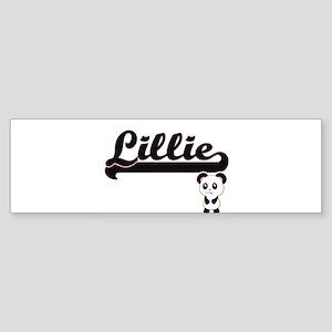 Lillie Classic Retro Name Design wi Bumper Sticker