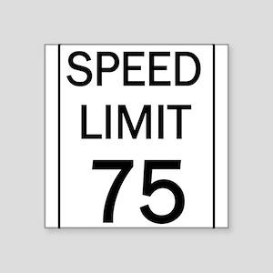 Speed Limit-75 Sticker