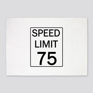 Speed Limit-75 5'x7'Area Rug