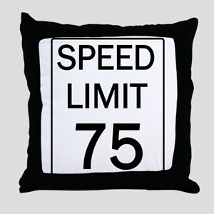 Speed Limit-75 Throw Pillow