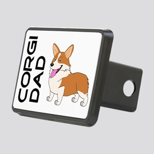 Red and white Corgi Dad Hitch Cover