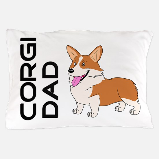 Red and white Corgi Dad Pillow Case