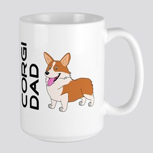 Red and white Corgi Dad Mugs