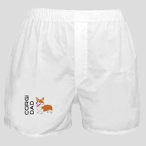 Red and white Corgi Dad Boxer Shorts