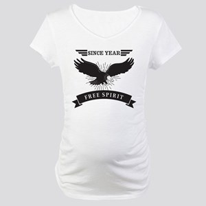 Personalized Birthday Eagle Spir Maternity T-Shirt