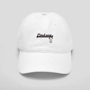 Lindsay Classic Retro Name Design with Panda Cap