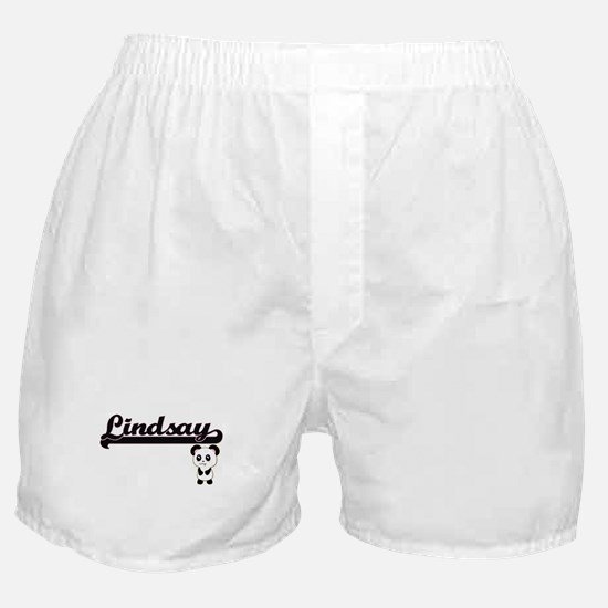 Lindsay Classic Retro Name Design wit Boxer Shorts