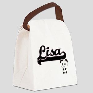Lisa Classic Retro Name Design wi Canvas Lunch Bag