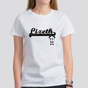 Lizeth Classic Retro Name Design with Pand T-Shirt